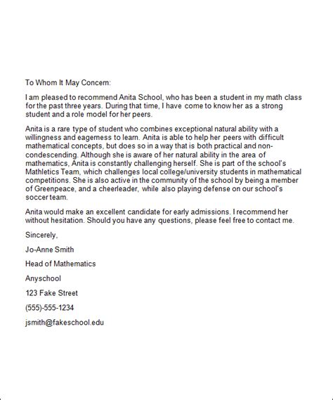 College Letter Of Recommendation From Friend Best Photos Of College Reference Letter Exles College Recommendation Sle Reference