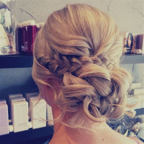Wedding Hair Up Braid by Low Bun Relaxed Hair Up Braids Soft Waves