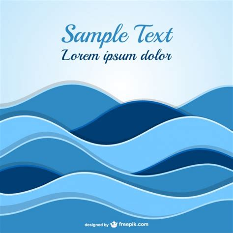 paper card wave template abstract waves template vector free