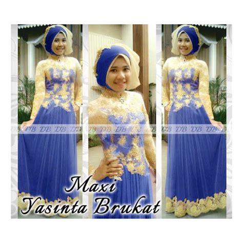 Gamis Brukat Jilbab Pashmina Fit L A11712a maxi yasinta brukat gamis tile renda prada gold butik