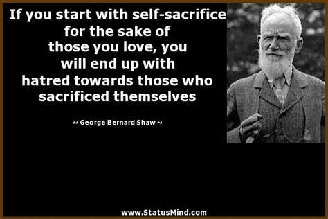 start   sacrifice   sake  statusmindcom