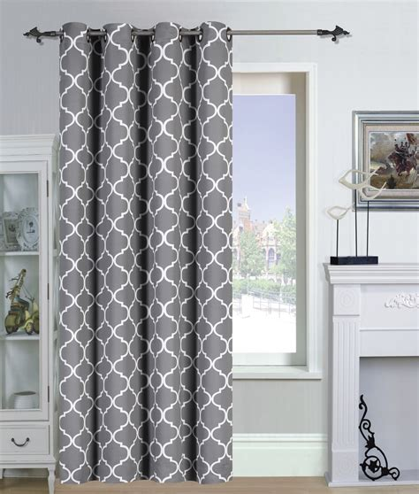 used drapes galleon printed blackout room darkening grommet curtain