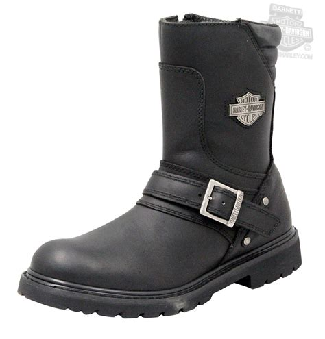 mens black riding boots 95194 harley davidson 174 mens booker black mid cut riding