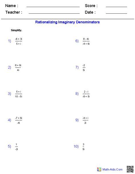 rationalizing denominators worksheet rationalizing the denominator worksheet free worksheets