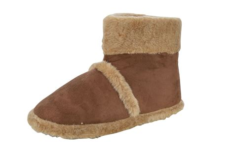 slipper boots with sole mens quot alan quot faux suede fleece lined rubber sole slippers