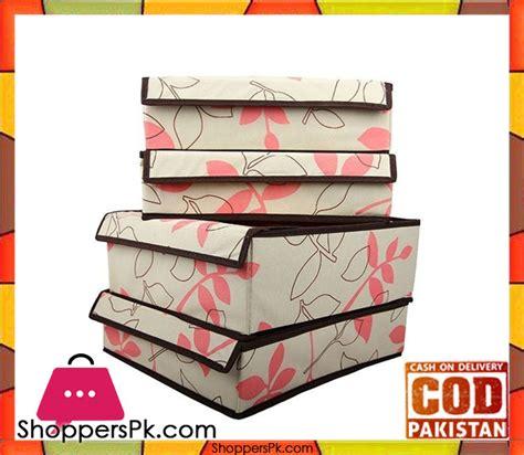 Printed Storage Box buy set of 4 printed storage box at best price in pakistan