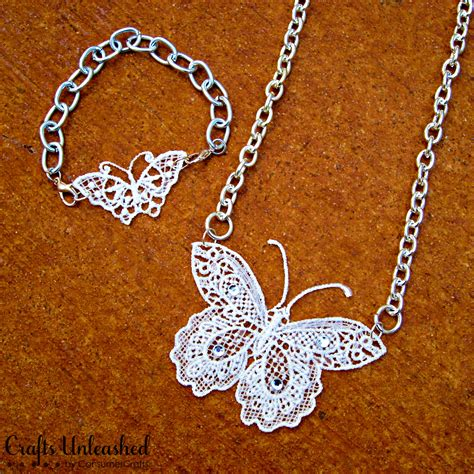 own jewelry make your own lace butterfly jewelry