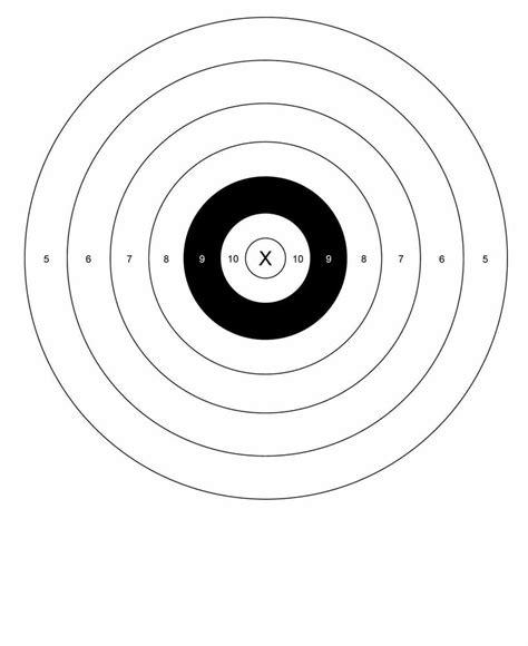 l target b 8 style bullseye pistol rifle shooting targets 17