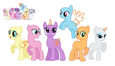 my little pony mane 6 base mlp mane six base pictures to pin on pinterest pinsdaddy