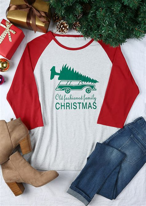 size  fashioned family christmas baseball  shirt