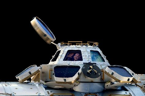 cupola iss gerst waving in iss cupola tiny business insider