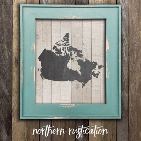 canadian map decor canada map print chalkboard canadian poster