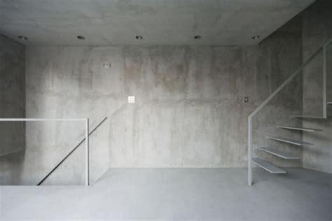 concrete floor apartment super thin apartment in tokyo