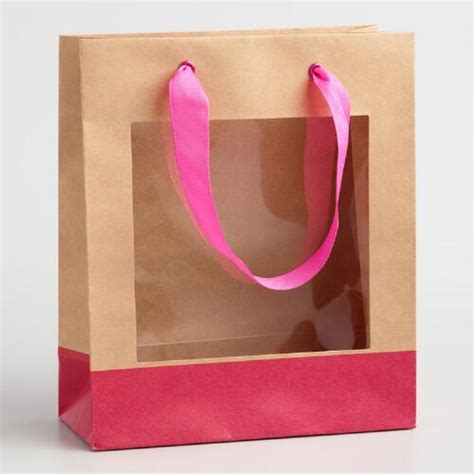 Benefit I Pink I You Bag small pink window gift bags set of 2 world market