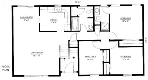 Bi Level House Floor Plans | bi level home plan the norwood the modular home group