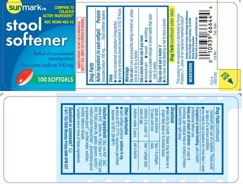 Non Gelatin Stool Softener by Stool Softener Capsule Liquid Filled Mckesson Sunmark