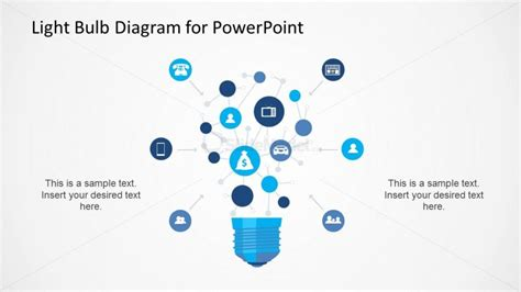 network diagram templates for powerpoint light bulb network diagram for powerpoint slidemodel
