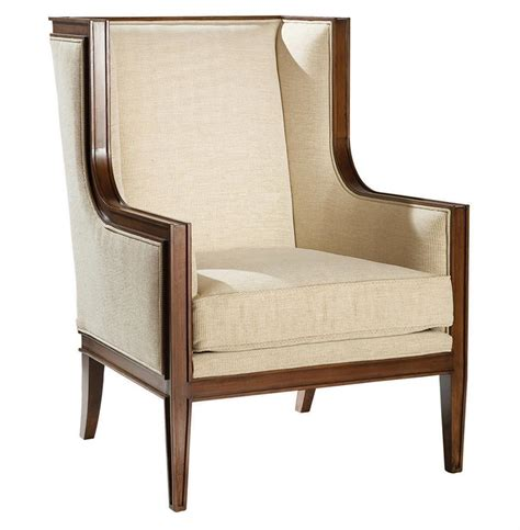 Wing Back Accent Chair by Gaston Regency Walnut Wing Back Accent Chair