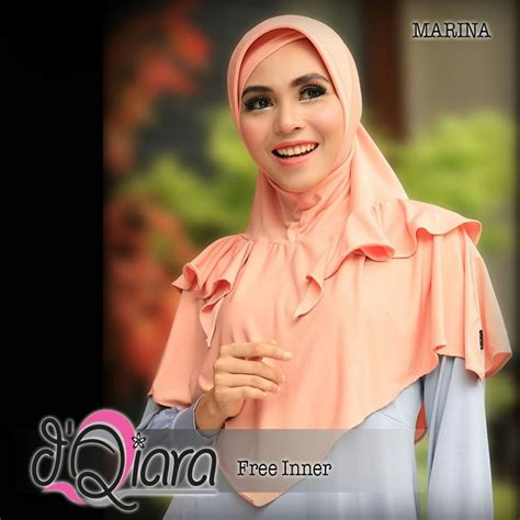 Simple Khimar Not Pet hatma fashion siria bergo marina by d qiara