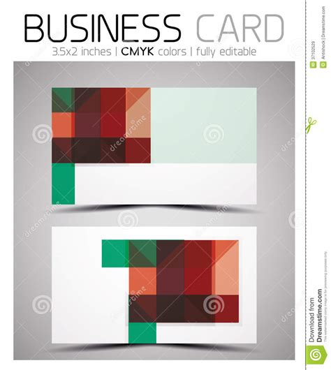 eps business card template vector cmyk business card design template royalty free