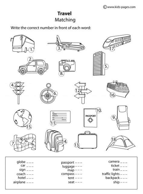 printable travel activity sheets travel b w worksheet