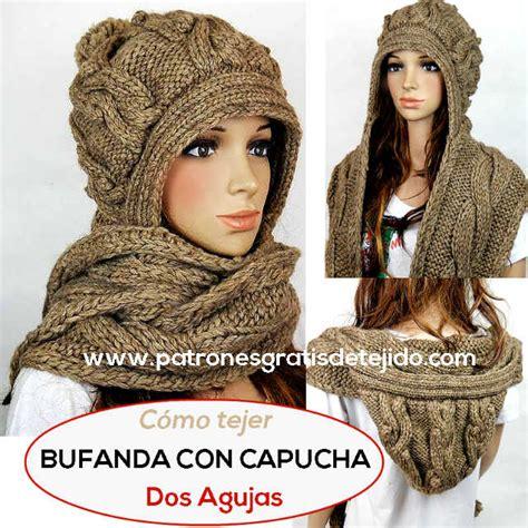como tejer bufandas con agujas c 243 mo tejer una bufanda con capucha con dos agujas