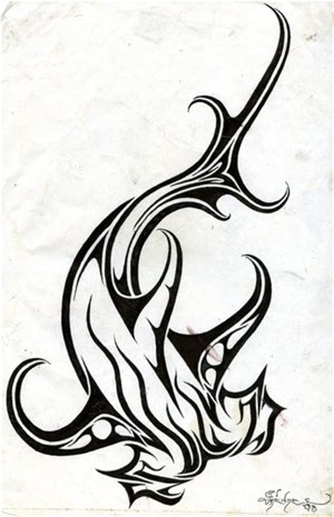 tribal hammerhead tattoo tattoos spot tribal hammerhead shark designs