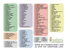 21 day fix gallery for gt 21 day fix grocery list