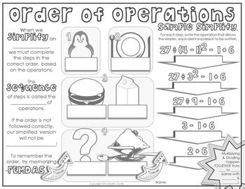 doodle 4 lesson plans order of operations doodle notes by math giraffe tpt