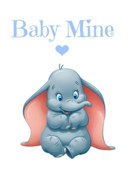 Baby Mine dumbo baby mine nursery printable instant
