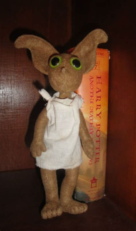 dobby house elf doll wizarding harry potter dobby inspired plush 8 quot hand crafted house elf doll new