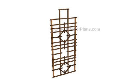diy trellis plans how to build a trellis free outdoor plans diy shed