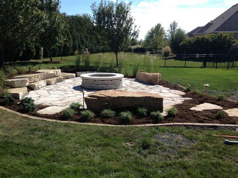 rustic outdoor fire pit area outdoor living pinterest