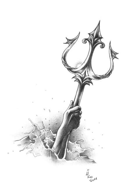 trident tattoo meaning poseidon on zeus