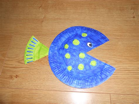paper plate fish template paper plate fish diy craft