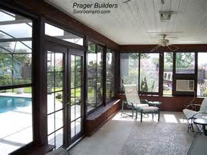 Windows For Sunrooms Orlando Sunroom Acrylic Window Enclosure Prager Builders