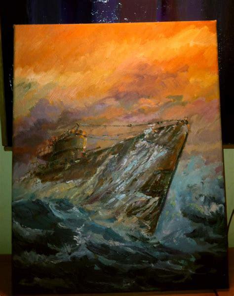 Painting U german u boat paintings