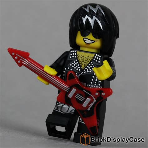 Lego Original Minifigure Rocker Rock Guitar Series rock 71007 lego minifigures series 12