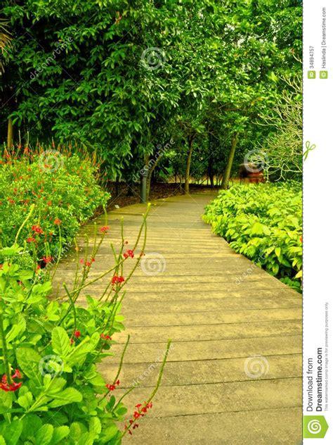 Winding Path Gardens by Garden Path Singapore Botanic Gardens Royalty Free Stock