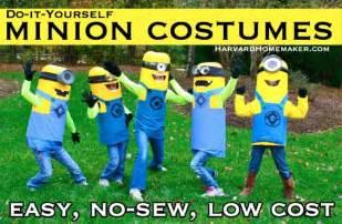 Easy Sew Diy Minion Costumes Easy Sew Diy Minion Costumes Harvard Homemaker