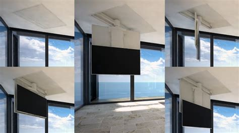 staffe tv soffitto tv moving mfchs staffa tv motorizzata da soffitto per tv