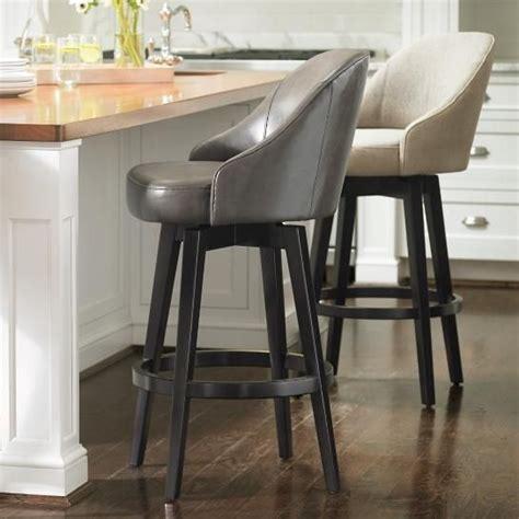 isaac swivel bar counter stool grandin road leather