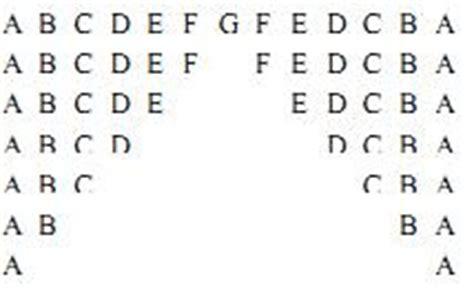 java pattern letter c programs ques 14 alphabet pattern