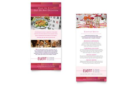 Corporate Event Planner Caterer Flyer Ad Template Word Publisher Rack Card Template Word