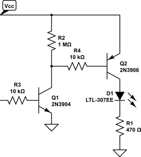bjt transistor led bjt use bipolar transistor to power led from a certain power on electrical engineering