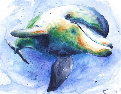 watercolor tattoos dolphin dolphins watercolor pencil and in color