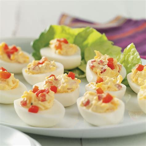taste of home christmas deviled eggs pimiento cheese deviled eggs recipe taste of home