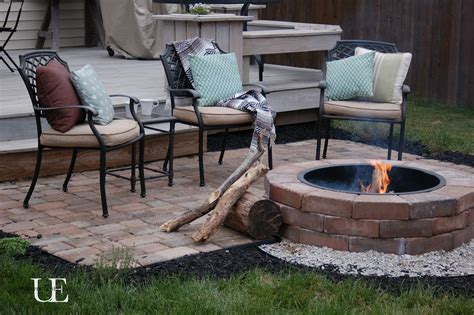 lawn garden brick patio designs with fire pit ideas