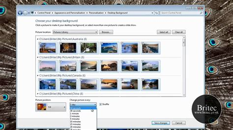 automatically change  rotate desktop background