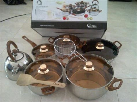 Eco Cookware Set 12 2pcs Ox 933 eco cookware 12 2pcs alat masak oxone ox 933